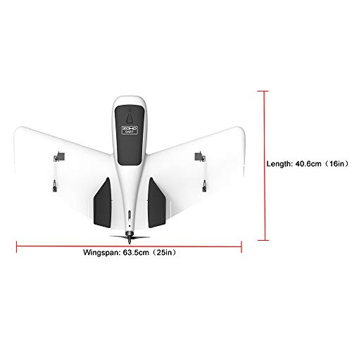 Hisoul ZOHD Dart Sweepforward Delta Wing Glider FPV EPP Racing Wing RC Airplane PNP (White) by Hisoul (Image #8)