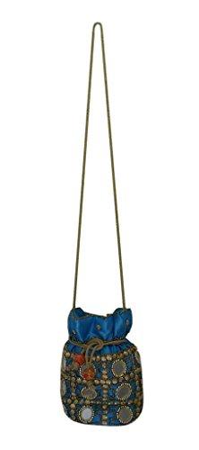 Kalra A Tracolla Sky Donna blue Creations Blu Borsa rtqxFzrwE