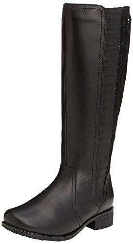 Myra piel botas negro negro Padders de mujer otra vOq7nvTwd