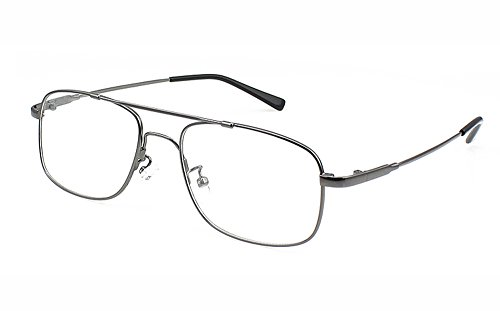 - Agstum Aviator Full-flex Optical Memory Titanium Eyeglass Frame (Gunmetal)