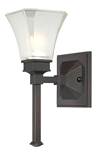 Biscayne Bronze 1 Light Bathroom Fixture from the Canterbury Collection ()
