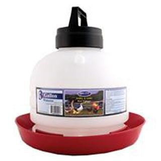 Farm Tuff Top Fill Poultry Fountains, 3-Gallon