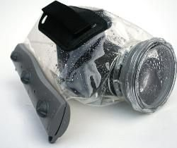 Aquapac 468 Camcorder Case, Cool Grey with Grey Shoudlerstrap