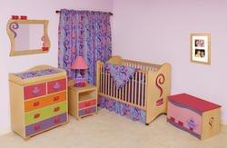 Little Girl Tea Set 2-in-1 Convertible Crib Set Finish: Natural