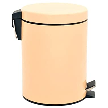5 Liter/1.3 Gallon Round Step Color Trash Can (Peach Puff)