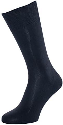 ALBERT KREUZ calze nere di lusso da uomo in 98/% seta Made in Germany