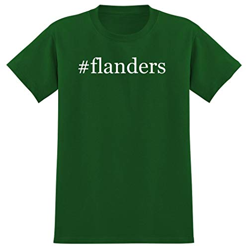 #flanders - Hashtag Men's Graphic T-Shirt, Green, Large (Industries Flanders)