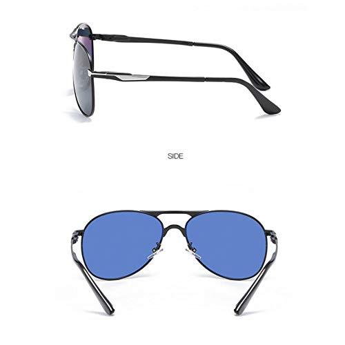Espejo de de Espejo Gama para frame full de Caballero Sol Caja de Completo Gafas gray conducción Rana Gafas de polarizadas de de Metal Alta Burenqiq té té de piloto Black Sol xqHU7wnzY