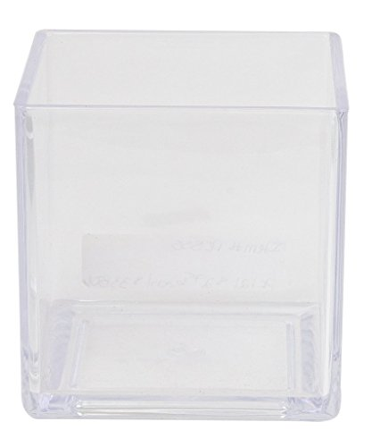 Flower Acrylic Vase Decorative Centerpiece For Home or Wedding by Royal Imports - Break Resistant - Cube Shape, 4