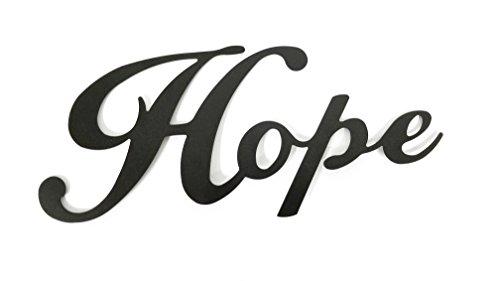- Hope Black Metal Wall Word
