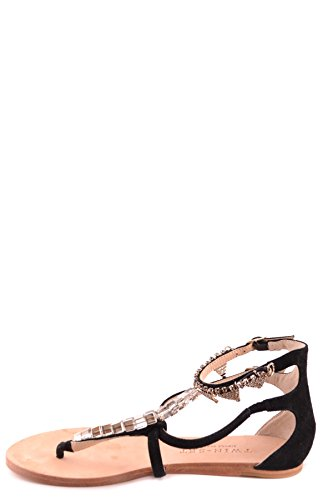 SET Leather Sandals MCBI302154O TWIN Black Women's OwS8qa