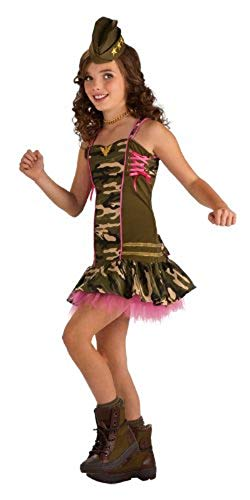 Army Brat Halloween Costume (Rubie's Drama Queens Tween Army Brat Costume - Tween Small (0-)