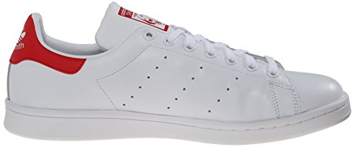 Adidas Originals Para Hombre Stan Smith Sneaker Blanco (rojo)