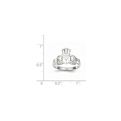 ICE CARATS 10k White Gold Irish Claddagh Celtic Knot Band Ring Size 7.00 Fine Jewelry Gift Set For Women Heart by ICE CARATS (Image #5)