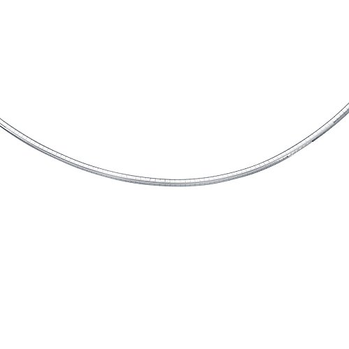 14K White Gold Solid Classic Omega 3mm Chain 16