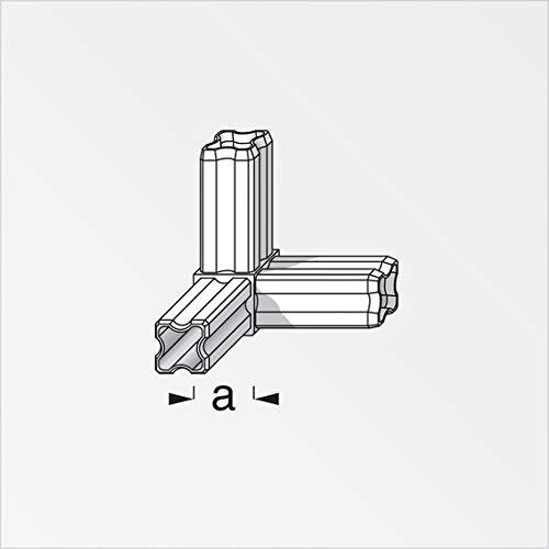 blanc 3 branches 23.5mm carr/ées Angle connecteur 90/° pour tube PVC//alu