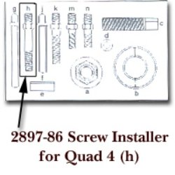 Screw Installer for Quad 4 for KDT2897 tool & industrial