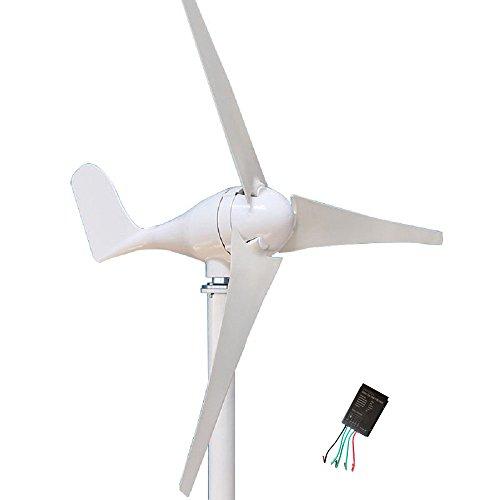 Wonderful Online Wind Turbine Generator Kit 400Watt DC12/24V of 3 Blades homes, businesses, and industrial energy supplementation (Turbine Wind Kit)