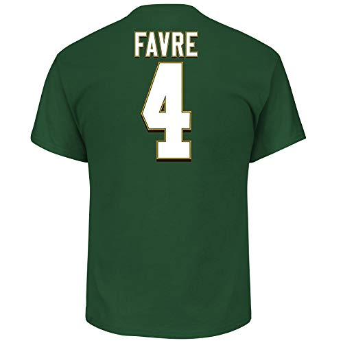 - Brett Favre Green Bay Packers Hall of Fame Big & Tall Name and Number T-Shirt 5XL