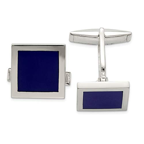 925 Sterling Silver Lapis Cuff Links Mens Cufflinks Link Fine Jewelry Dad Mens Gift Set