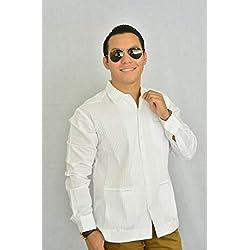 4f143bc1b2 Camisa Guayabera Yucateca Casual Lino Presidencial Original cfkkprsml11