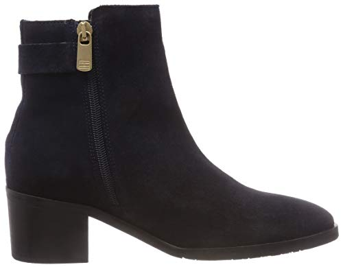 Suede Bleu Hilfiger Femme Th Buckle 403 Boot midnight Heel Mid Tommy Botines F6Yqwx1qf