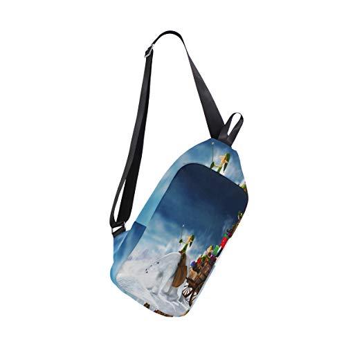 Lovexue Sling Bag Super Christmas Womens Chest Shoulder Backpacks Crossbody Sports -