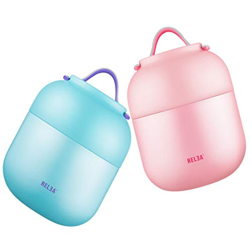 TWF Stainless Steel Insulated Barrel, Student Insulated Lunch Box, Using Food Silicone + 304 Stainless Steel + Pp (Polypropylene) Material, Durable and Leak-Proof