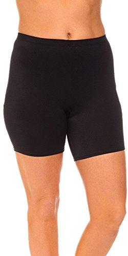 Aquabelle Women's Plus Size Chlorine Resistant Bike Short 18 - Swimwear Shorts Bike