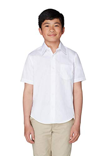 French Toast Little Boys' Toddler Short Sleeve Poplin Dress Shirt, White, 2T by French Toast