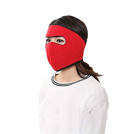 Yofafada Masque Automne Hiver Coupe-Vent équitation d'extérieur antipoussière Respiration Masque