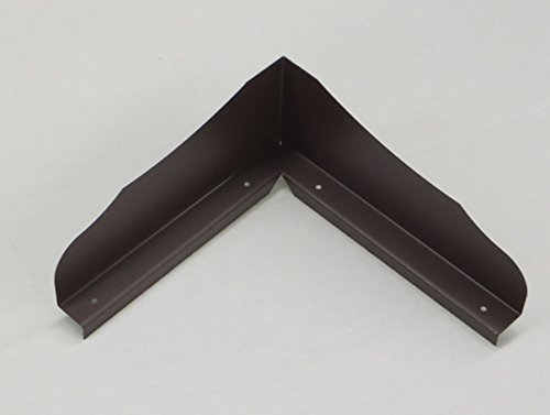 Gutter Valley Splash Guard - Bent Ornamental (ROYAL BROWN (3 - Valley Roof