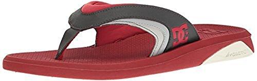 DC Men's Recoil Sandal, Red/Grey, 9 D US
