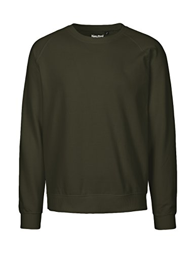 NEUTRAL Sweatshirt Unisex, 100% Organic Cotton, Fairtrade and Oeko-Tex Certified, Color Military, Size S - 100 Sweatshirts Cotton