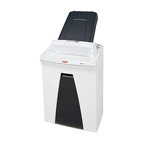 HSM SECURIO AF300 L4 Micro-cut Shredder with automatic paper feed; shreds up to 300 automatically/13 manually; 9 gallon capacity