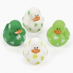 Two Dozen (24) Mini Irish St. Patrick's Day Rubber Ducks