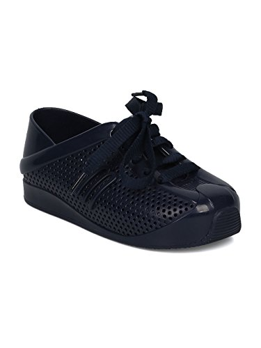 Melissa Mini Mini Love System PVC Perforated Lace up Sneaker HC08 - Navy Blue Mix (Size: Toddler 8) by Melissa (Image #5)