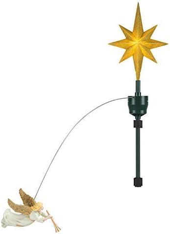 dise/ño de /ángel en 3D color dorado Figura decorativa de /árbol de Navidad Amosfun