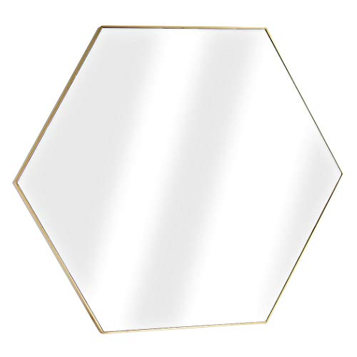 American Art Decor Framed Hexagon Infinity Wall Vanity Mirror – Gold 34.75 H x 40.25 L