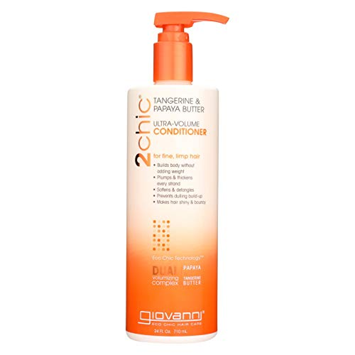 Giovanni Ultra-Volume Conditioner for Fine Limp Hair Tangerine Papaya Butter 24 fl oz 710 -