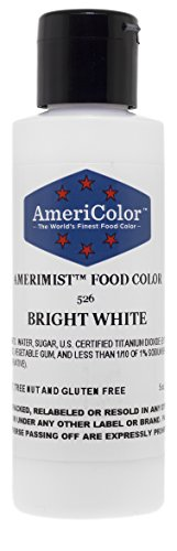 Americolor Amerimist Airbrush Food Color, Bright White, 5 Ounces