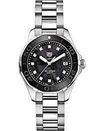 TAG Heuer Aquaracer Black Mother of Pearl Diamond Womens Watch WAY131M.BA0748