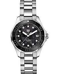 (TAG Heuer Aquaracer Black Mother of Pearl Diamond Womens Watch WAY131M.BA0748 )