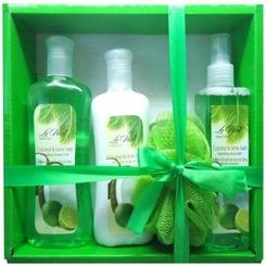 (Coconut and Lime Twist Gift Set 4pc)