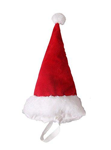 ANIAC Children Large Pet Costume Red Christmas Hat Pointed Xmas Cap for Kids Big Dogs ()