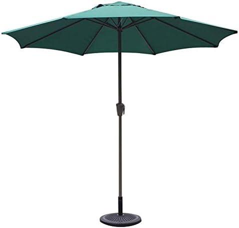 CHHDガーデンパラソル9フィート、ラウンド、マーケット/ガーデン/パティオパラソル、UV70 +、屋外用パラソルバルコニーテーブルテラスデッキまたはヤード(色:ワインレッド)(色:カーキ)
