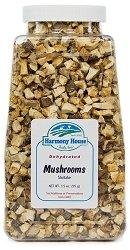 Harmony House Foods, Dried Mushrooms, Shiitake, 4 Ounce Quart Size Jar