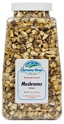 Harmony House Foods, Dried Mushrooms, Shiitake, 4 Ounce Quart Size Jar