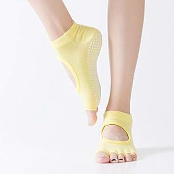 Amazon.com: Socks Silica Gel Slip Open Toe Back Five