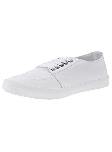 oodji Ultra Women's Cotton Canvas Shoes White (1000n) WgaOBnxz23